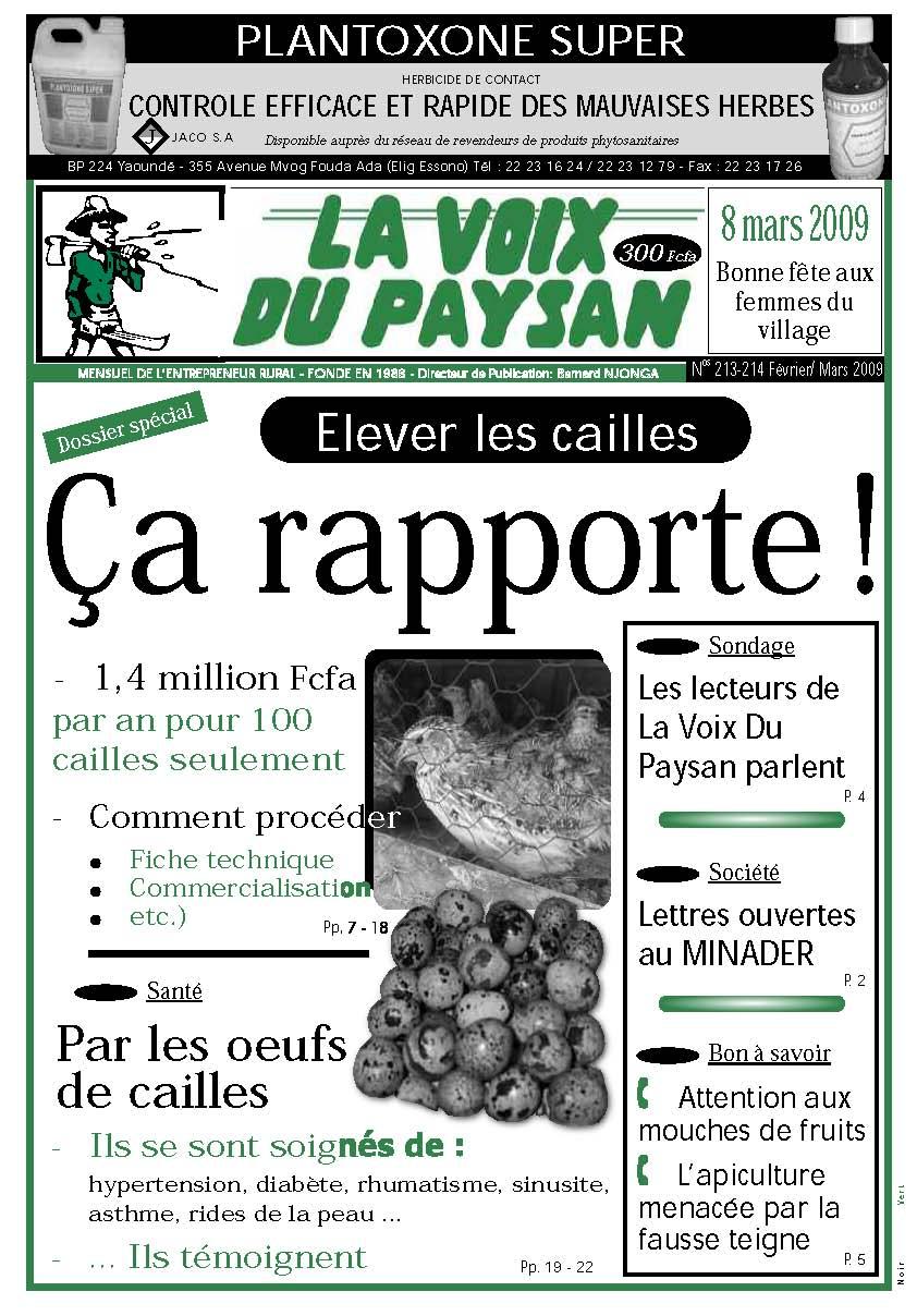 N°213-214 Fév/Mars 2009