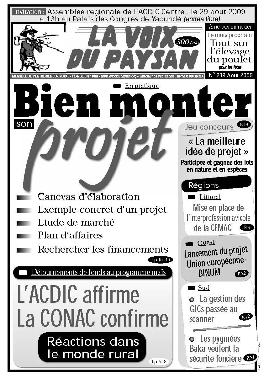 N°219 Août 2009